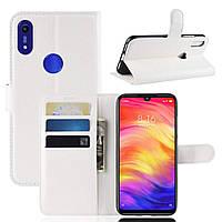 Чехол-книжка Litchie Wallet для Honor 8A / 8A Pro / Huawei Y6s Белый