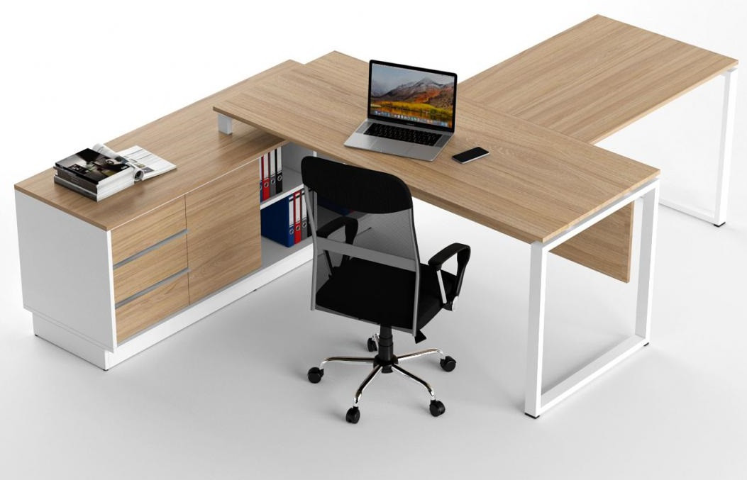 Стол офисный  Promo Q9s с брифингом Дуб TM Salita
