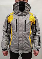 Горнолыжная куртка мужская Snow Headquarter A-035 c Omni-Heat серо-желтая