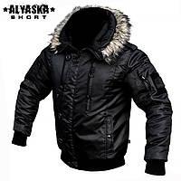 """Куртка зимняя """"ALYSKA SHORT"""" BLACK (ВИДЕО)"""