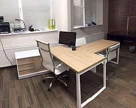Стол офисный  Promo Q9s с брифингом Дуб TM Salita, фото 3