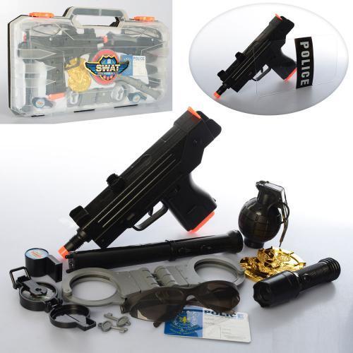 Игрушечный набор Полицейского в чемодане H893-4 звуковые и световые эффекты