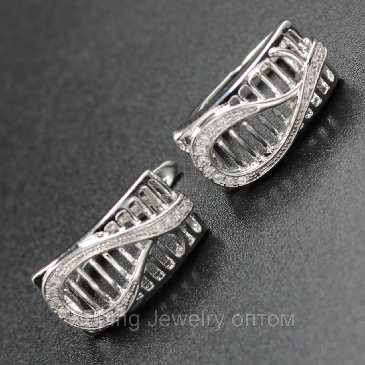 "Серьги женские ""Layla"" Xuping Jewelry (позолота)."