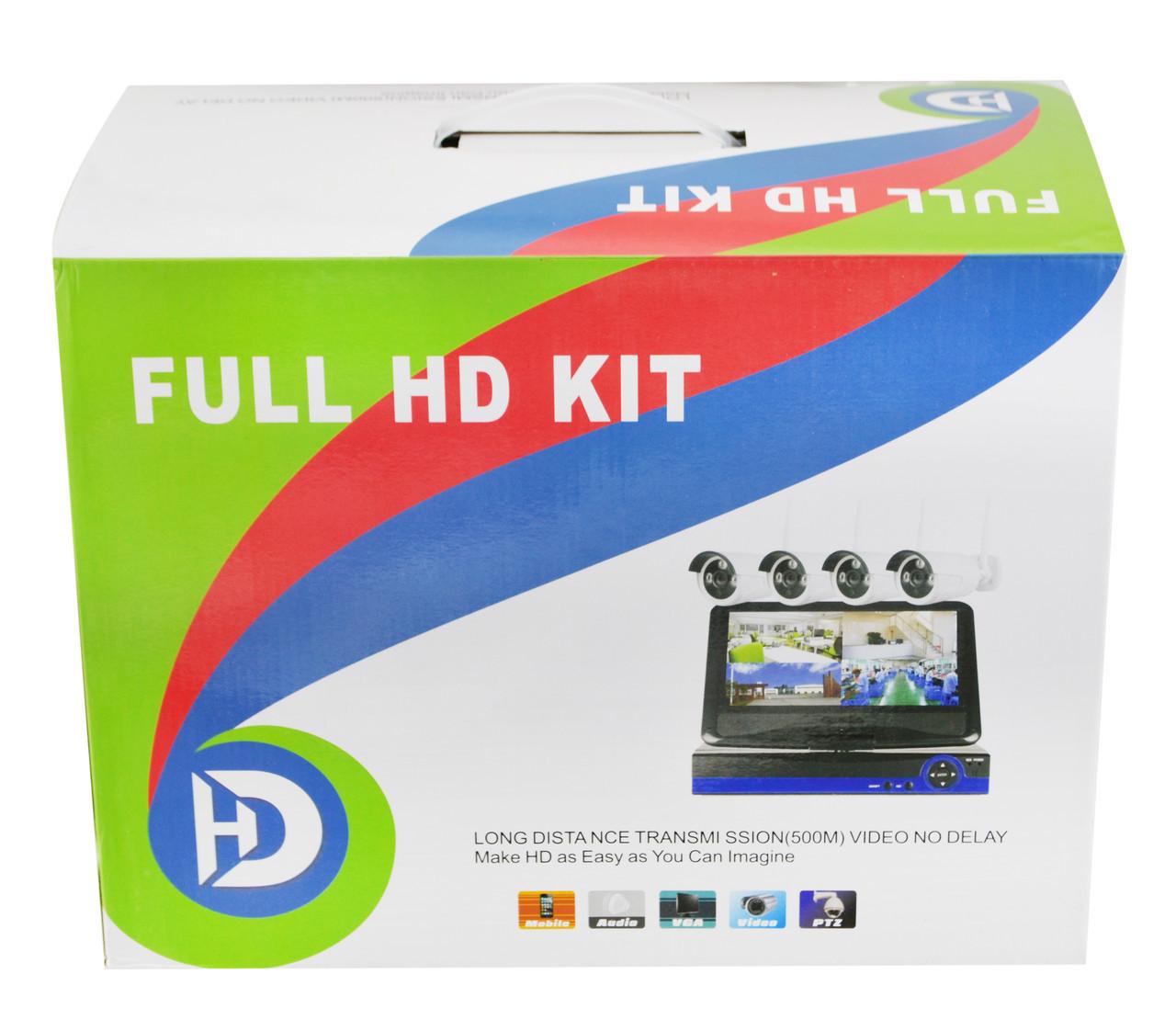 Набор видеонаблюдения (монитор + 4 камеры WiFi)