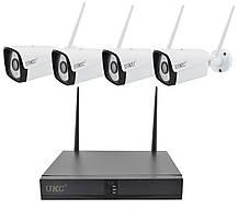 Набор видеонаблюдения (монитор + 4 камеры WiFi), фото 2