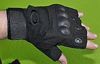 Рукавички тактичні OAKLEY BC-4624-BK з відкритими пальцями чорні