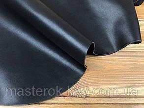 Кожа натуральная спилок покрывной Рамид PREMIUM AK т.1,4мм Италия цвет черный