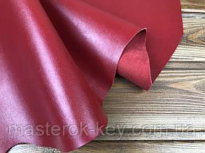 Кожа натуральная спилок покрывной Рамид PREMIUM AK т.1,4мм Италия цвет красный