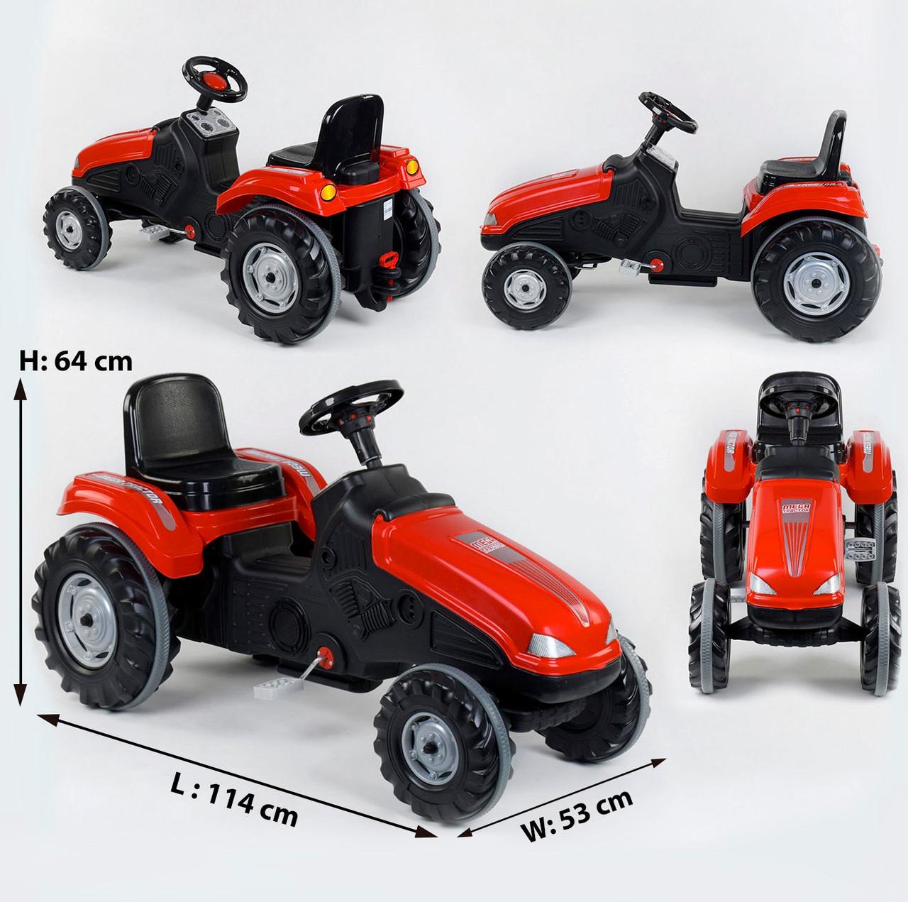 Трактор для детей педальный 07-321 red красный (веломобиль)