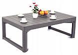 Стол садовый уличный Allibert Lyon Table Rattan Cappuccino ( капучино ) из искусственного ротанга, фото 6