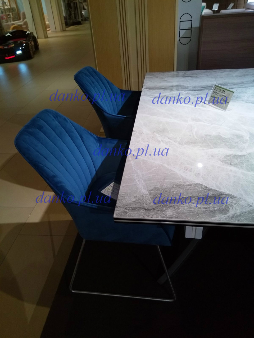 Кресло Benavente (Бенавенте) синий велюр от Niсolas