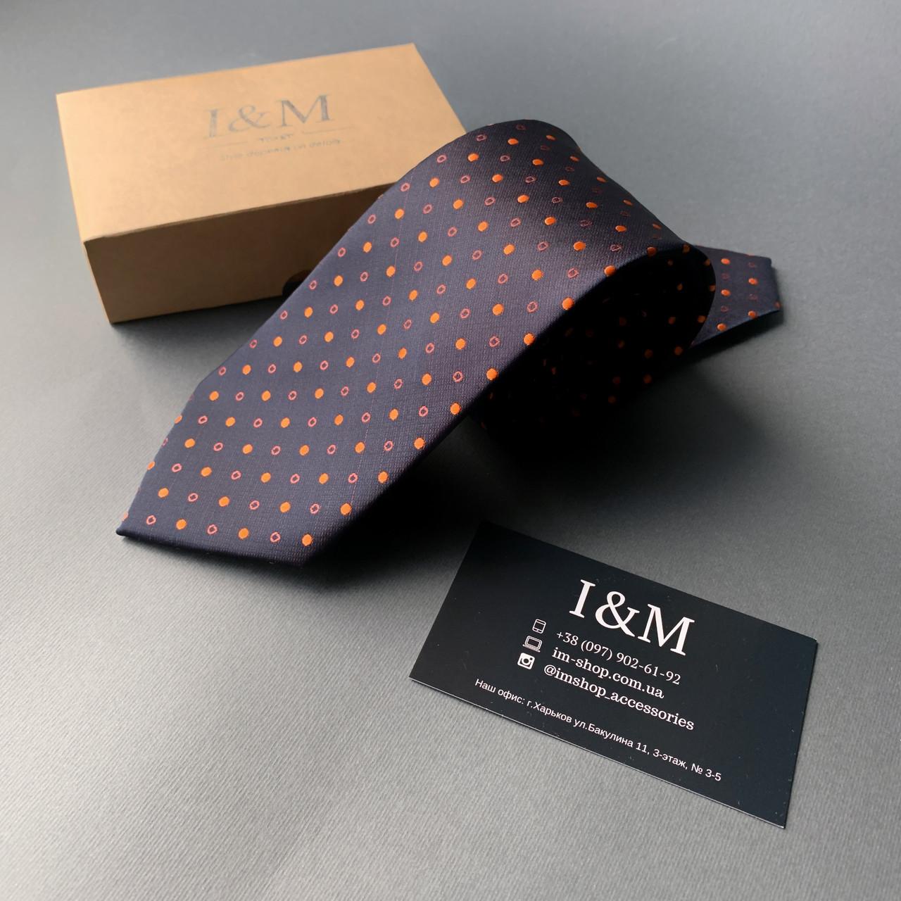 Краватку I&M Craft в помаранчеву точку (020350)