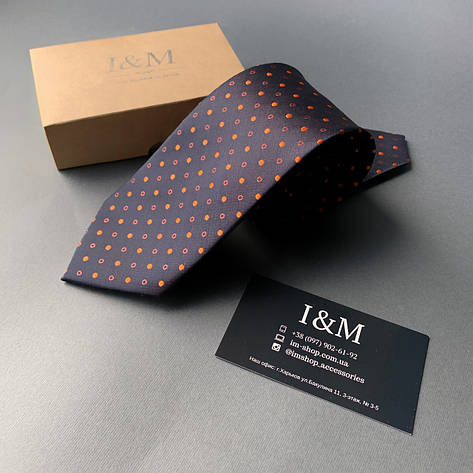 Краватку I&M Craft в помаранчеву точку (020350), фото 2