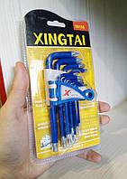 Набор шестигранных ключей Torx 9шт Xintai 00156 двухсторонние, прочная сталь