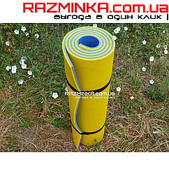 Коврик каремат 1800х600х8мм, сине-жёлтый (20шт)