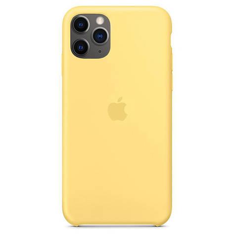Чехол Silicone case (copy) на  iPhone 11 Pro Max  Yellow, фото 2