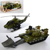 Набор транспорта военный 3539-5 детские игрушки вертолет танк