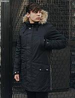 Мужская зимняя парка Staff climat black