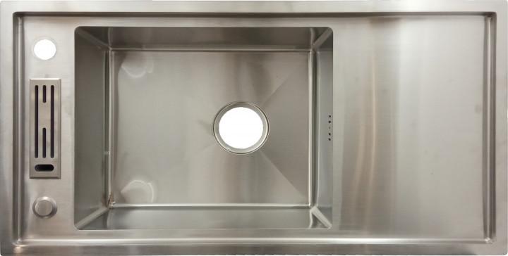 Мойка кухонная из нержавеющей стали 80x42x20 см