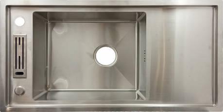 Мойка кухонная из нержавеющей стали 80x42x20 см, фото 2