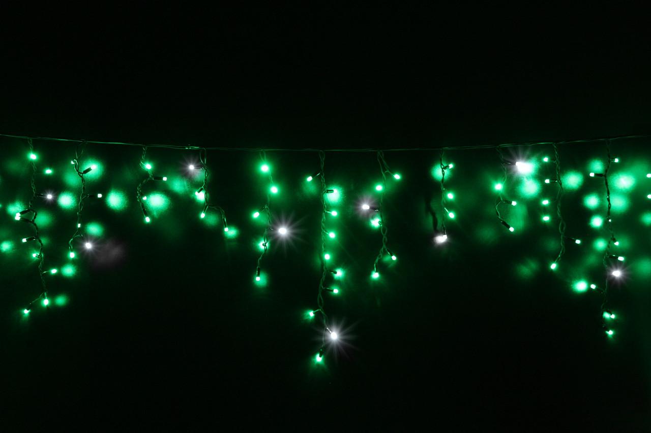 Уличная светодиодная гирлянда бахрома Lumion Icicle Light  90 led  наружная зеленый с мерцанием