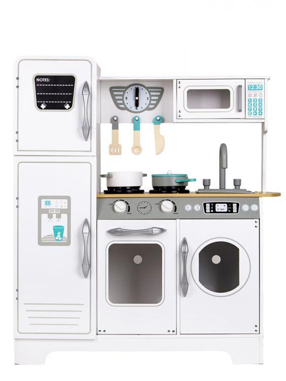 Дитяча дерев'яна кухня EcoToys TL18061 + аксесуари (9103)