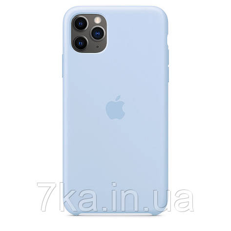 Чехол Silicone case (copy) на  iPhone 11 Pro Max Sky Blue, фото 2
