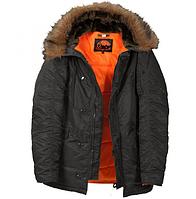 Куртка Аляска N-3B Black ORIGINAL // РАЗМЕРЫ XL