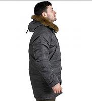 Куртка Аляска Slim Fit N-3B Gray, фото 3
