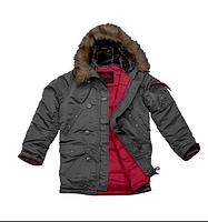 Куртка Аляска Slim Fit N-3B Gray, фото 4