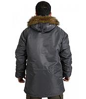 Куртка Аляска Slim Fit N-3B Gray, фото 5
