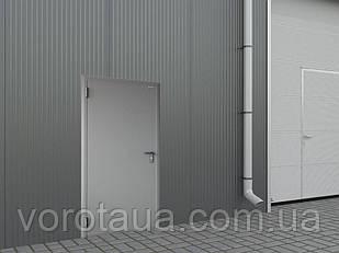 Двери DoorHan ширина 880мм 2050мм высота технические гладкая/с угл.рамой/ключ