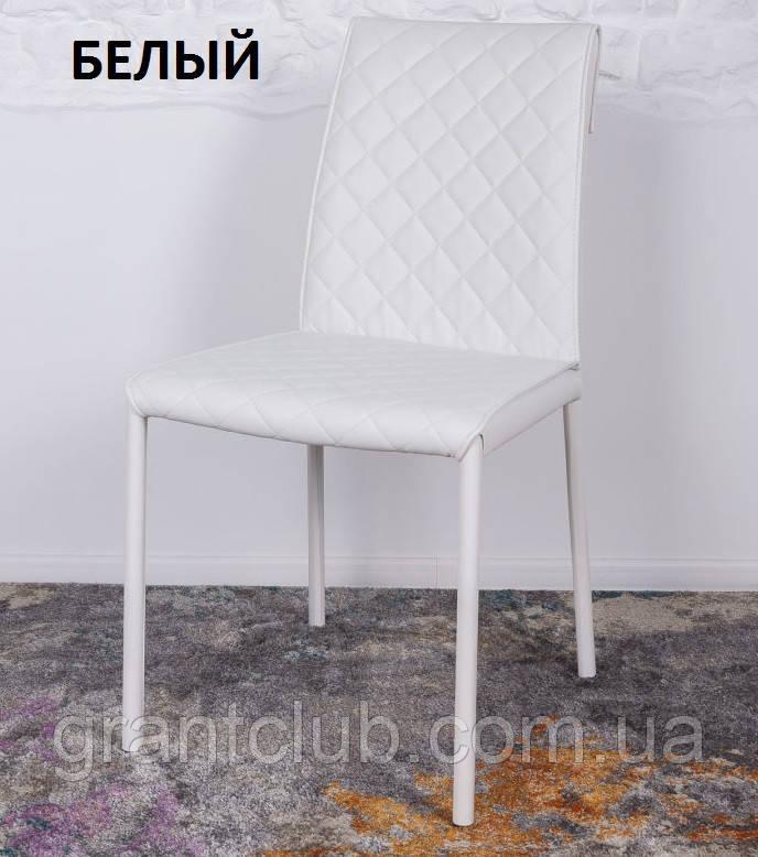 Обеденный стул DRESDEN (Дрезден) экокожа белый Nicolas