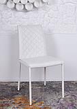 Обеденный стул DRESDEN (Дрезден) экокожа белый Nicolas, фото 3