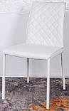 Обеденный стул DRESDEN (Дрезден) экокожа белый Nicolas, фото 4