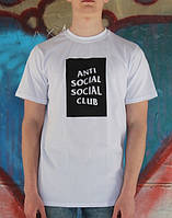 Футболка стильная принт anti social social club