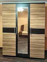 Шкаф 3Д Вероника Зебрано + Венге темный Мебель Сервис (156х56.3х203.4 см)