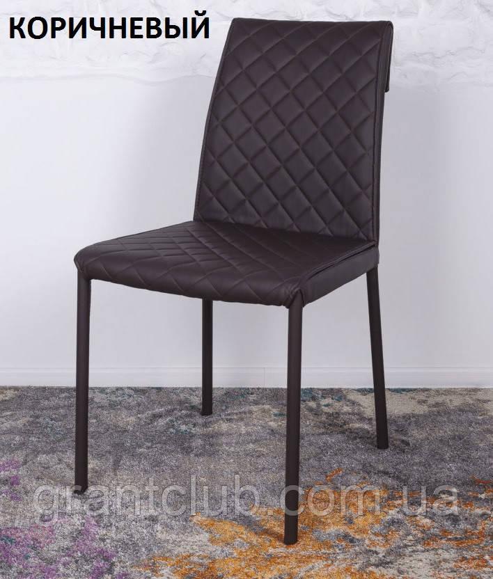 Обеденный стул DRESDEN (Дрезден) экокожа коричневый Nicolas