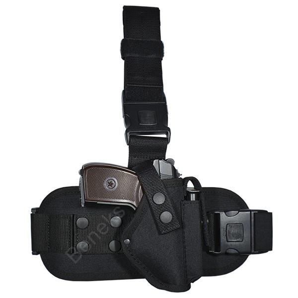 Кобура набедренная ПМ с платформой (oxford 600d, чёрная)
