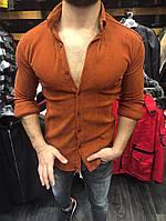 Мужская рубашка теплая однотонная А-OFSBlack 1,OFSBrown 2