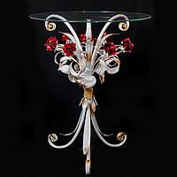 Стол журнальный с красными розами С113 WК