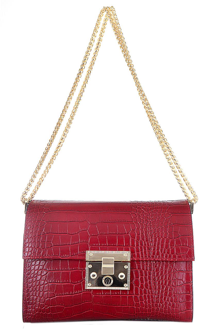 Женская кожаная сумка CLEA Diva's Bag цвет бордовый