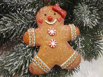 Новогоднее украшение. Имбирный человечек, новогодний декор