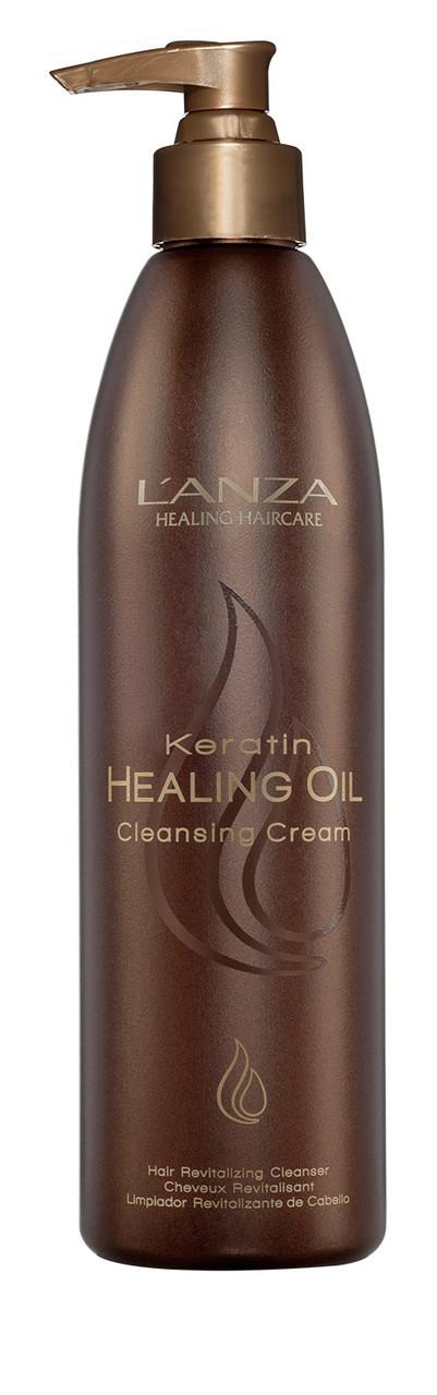 Lanza keratin healing oil cleansing cream Крем для быстрого мытья волос ph: 5.5, 300 мл