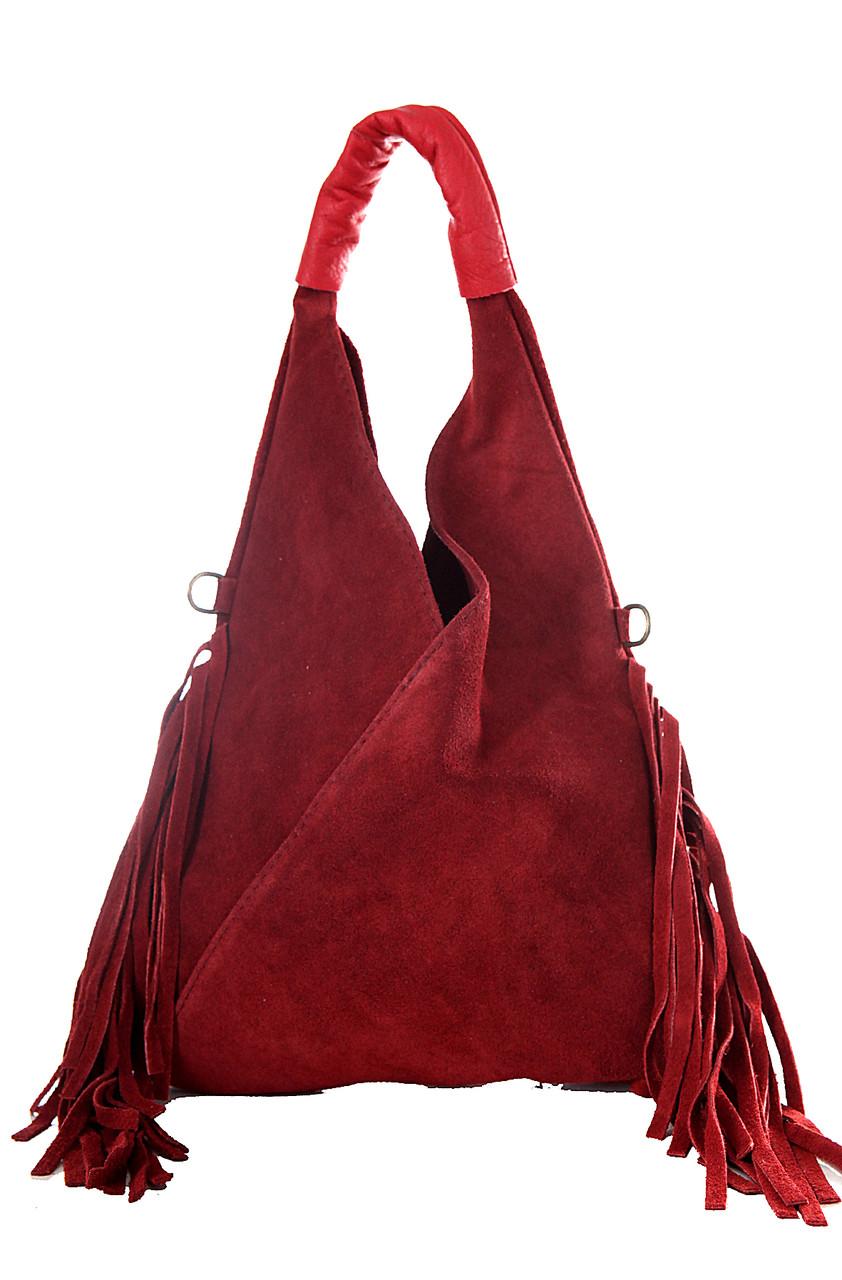 Женская кожаная сумка LORITA Diva's Bag цвет бордовый