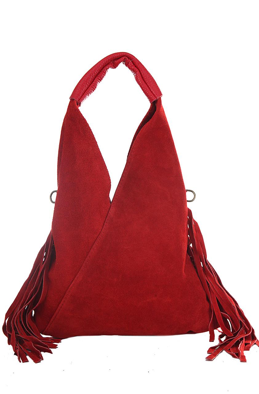 Женская кожаная сумка LORITA Diva's Bag цвет красный