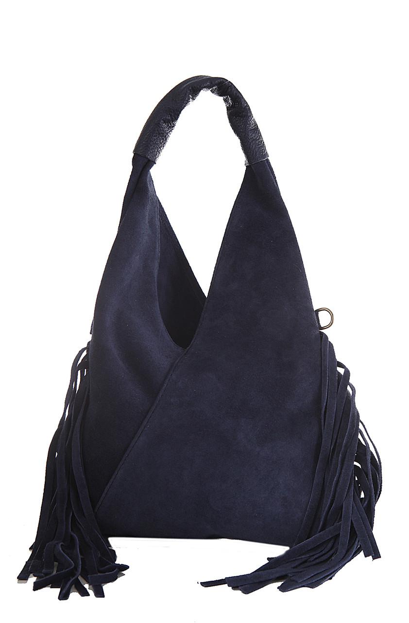 Женская кожаная сумка LORITA Diva's Bag цвет темно-синий