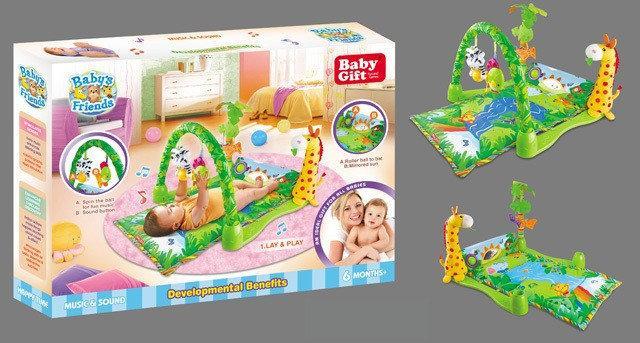 Развивающий коврик для малышей Тропический лес