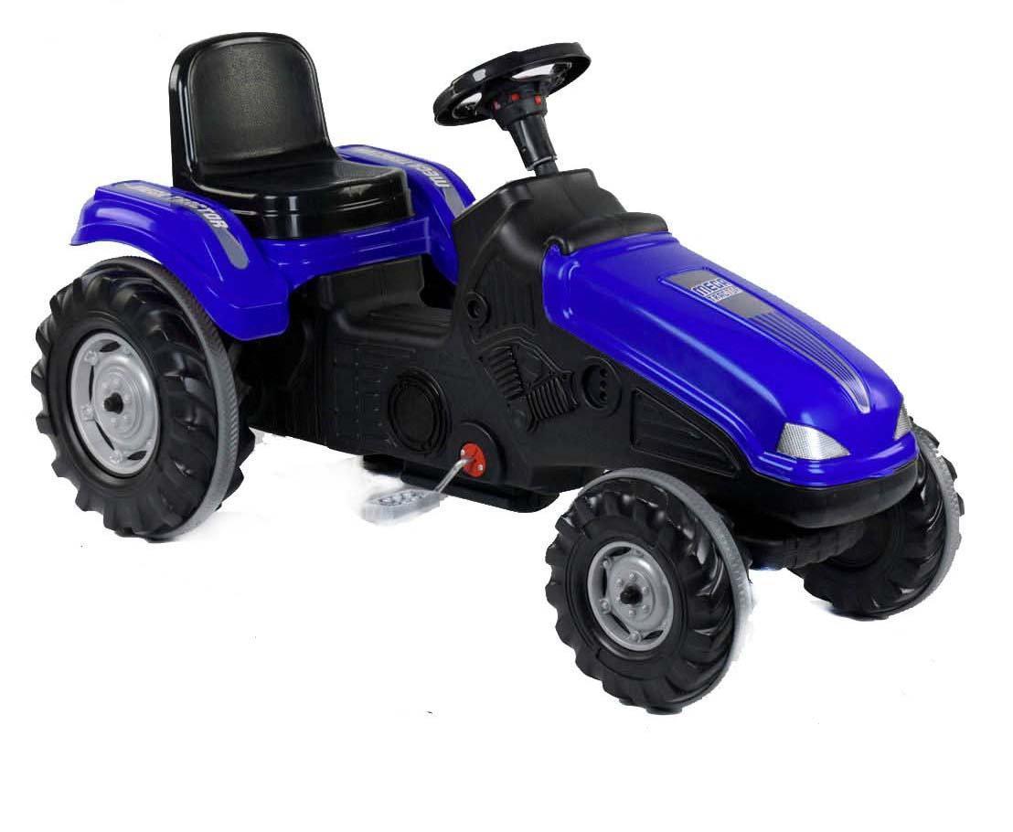 Трактор педальный 07-321 BLUE клаксон на руле, сидение регулируемое