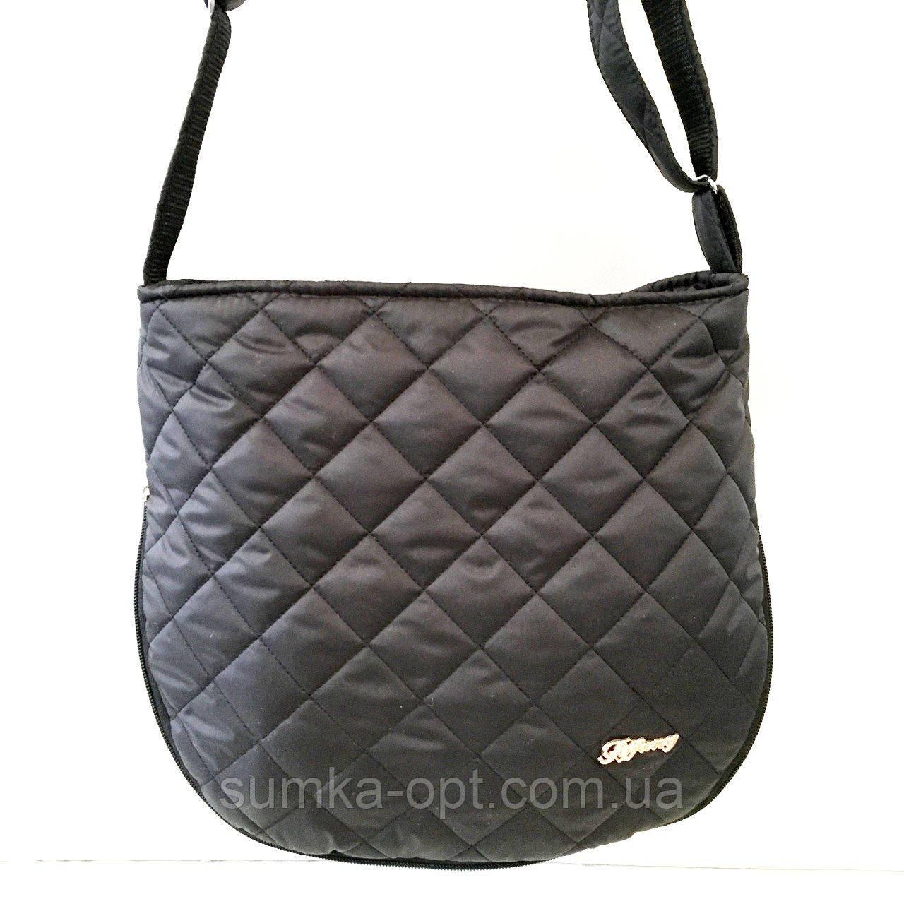 Женские стеганные сумки оптом (ЧЕРНЫЙ)30*34см